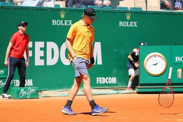 Denis Shapovalov knocked out in his first round match at the Monte Carlo Masters