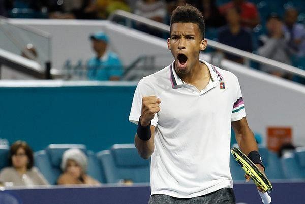 Felix Auger-Aliassime reached his second ATP semi-final in Miami 2019