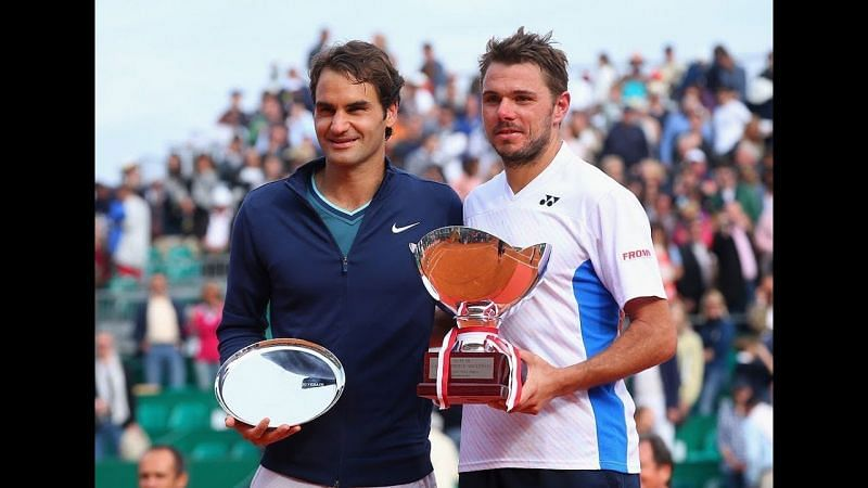 Stan winning the Monte Carlo Masters in 2014 after defeating Roger Federer.