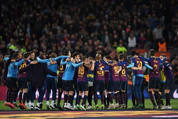 Barcelona have won the La Liga, and will be looking to achieve a UEFA victory in the coming weeks.