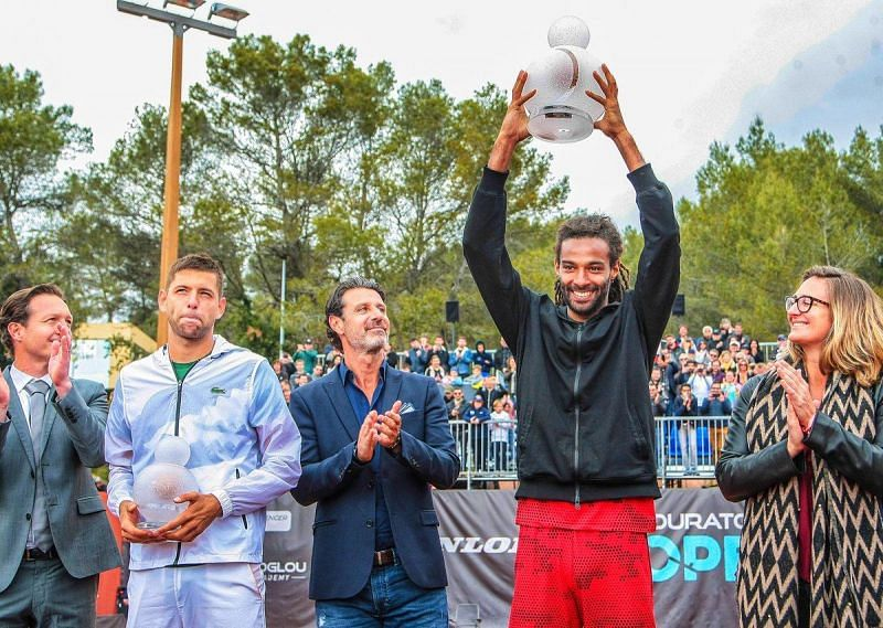 Dustin Brown won the second edition of the Mouratoglou Open on Sunday