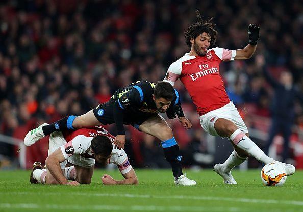Arsenal v S.S.C. Napoli - UEFA Europa League Quarter Final : First Leg