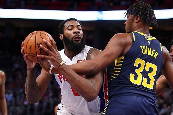 Drummond, in action against the Indiana Pacers