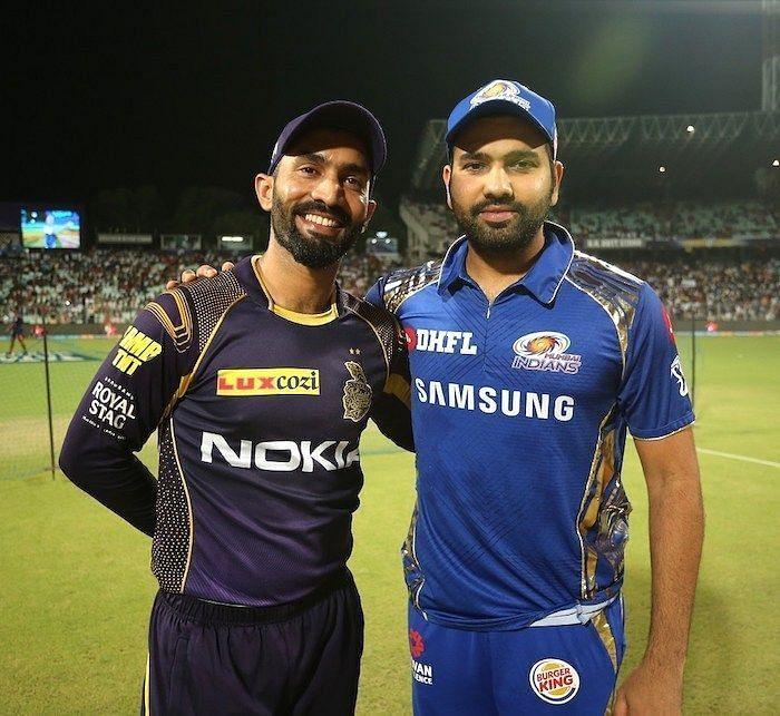 Dinesh Karthik and Rohit Sharma (image credits: iplt20.com)