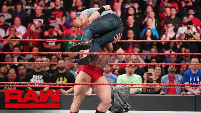 Kurt Angle was destroyed by a debuting Lars on RAW