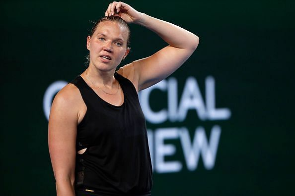 Kaia Kanepi was close to upsetting Simona Halep at this year