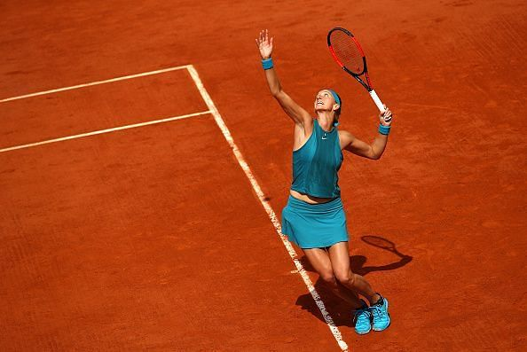 Petra Kvitova was stunning on serve in her opening round match against qualifier Greet Minnen