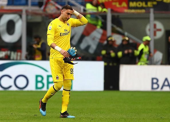 Gianluigi Donnarumma is expected to be out on Saturday with an injury.