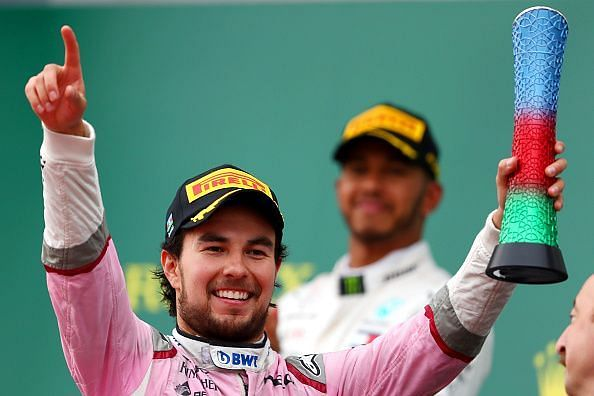 Sergio Perez was the only man not driving for a top 3 team to score a podium in 2018.