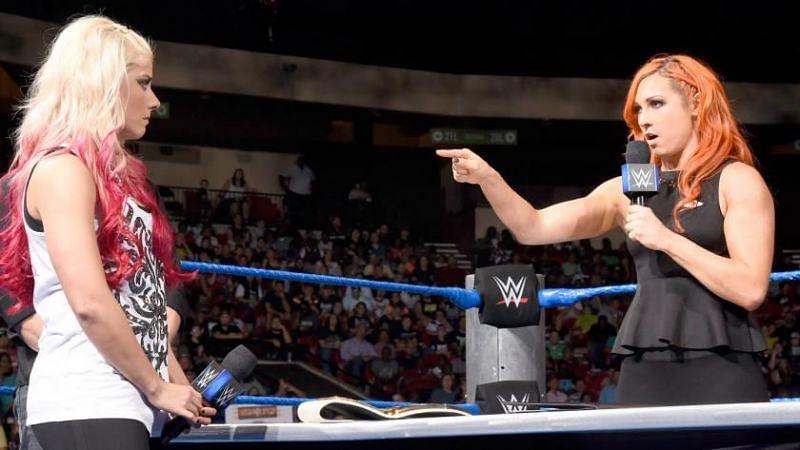 Alexa Bliss (left) has finally responded to Becky Lynch