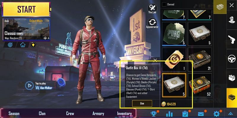 First, find your limited time outfit boxes