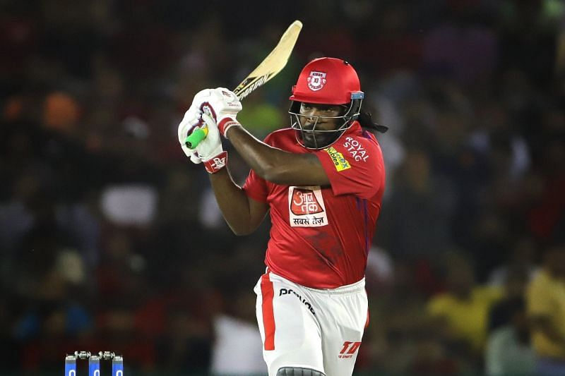Gayle scored 99* not out.