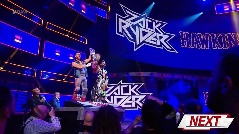 WWE RAW Tag Team Champions: Curt Hawkins and Zack Ryder
