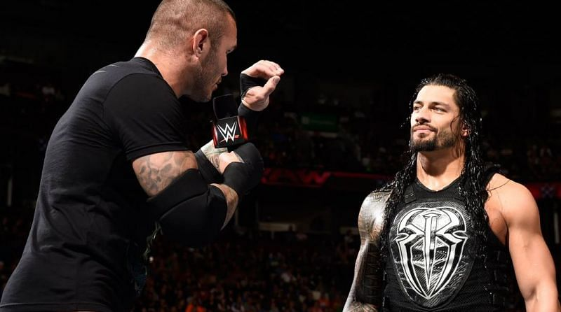 Orton and Reigns faced off after the show