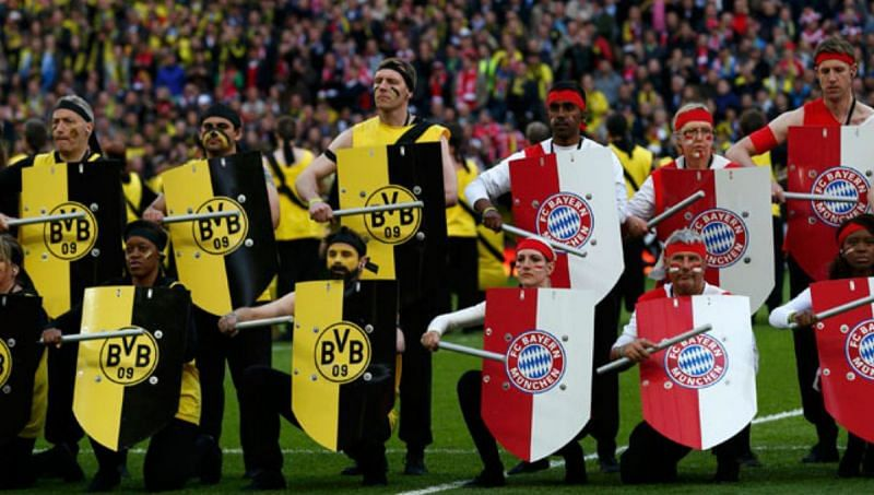A symbolic showing off the rivalry between the two clubs