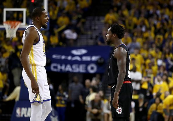 Kevin Durant and Patrick Beverley were both ejected in Game 1