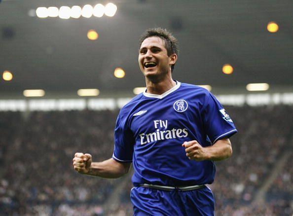Frank Lampard of Chelsea celebrates