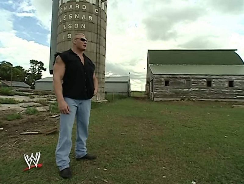 Lesnar at his farm