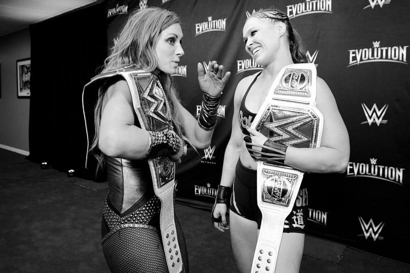 Ronda and Becky at Evolution