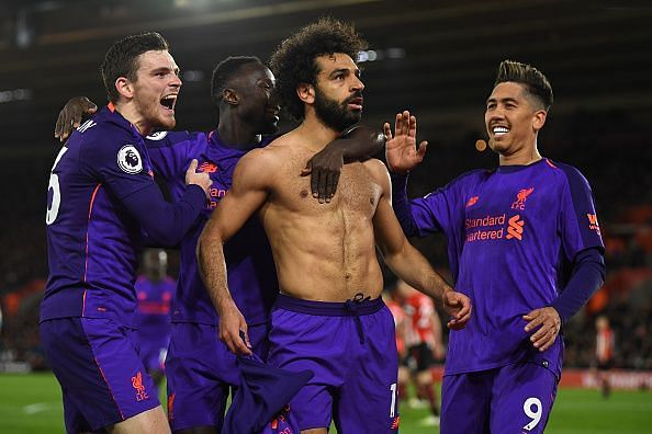 Salah ended his goalscoring drought against Southampton FC during the weekend