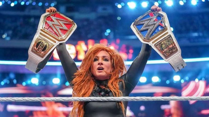 Becky winning both championships on one night