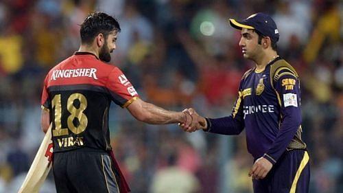 Virat Kohli and Gautam Gambhir - Source - BCCI/IPLT20.com