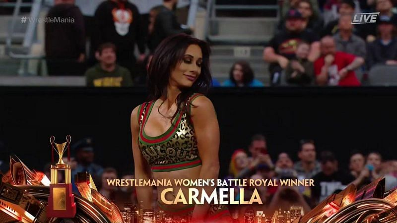 Carmella was the shock winner of this year