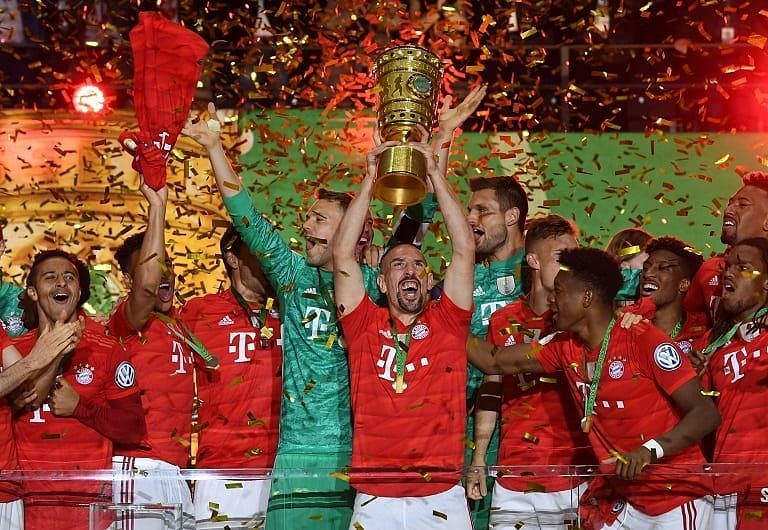 Bayern Munich have won their seventh consecutive German Bundesliga title.