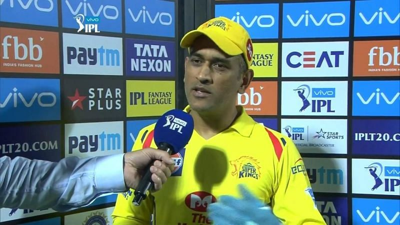 During the post-match presentation, when asked whether Dhoni will be back in the next season, he replied,