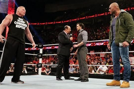 Brock Lesnar and Batista in the same ring