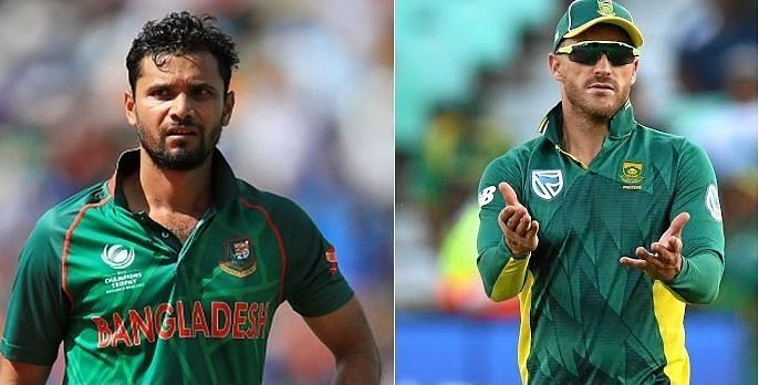 Mashrafe Mortaza and Faf du Plessis