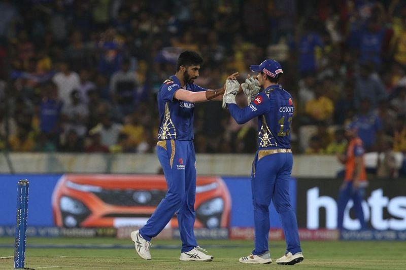 Jasprit Bumrah turned the match in MI
