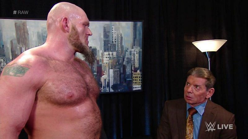 Lars Sullivan intimated Vince McMahon into giving him what he wanted