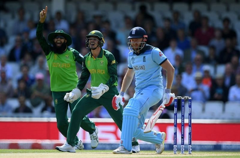 The surprising gamble paid off as Tahir dismissed the dangerous English opener Jonny Bairstow in the first over