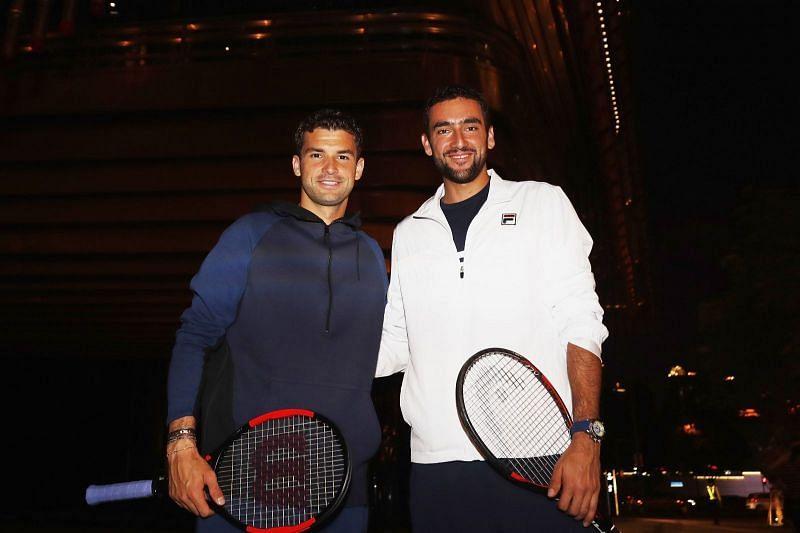 Grigor Dimitrov (Left), Marin Cilic (Right)