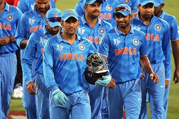 Indian team during Cricket World Cup 2015