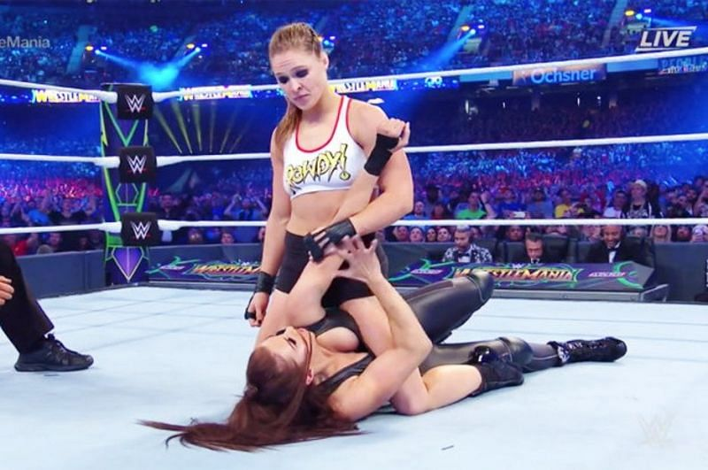 Ronda Rousey concluded her story with Stephanie McMahon in 2018