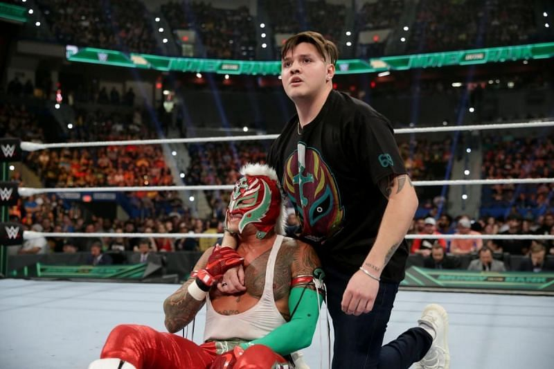 Rey Mysterio and Dominic