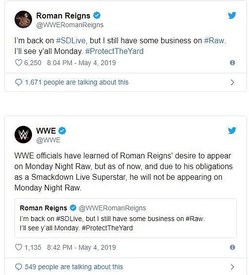 Source Roman Reigns Twitter