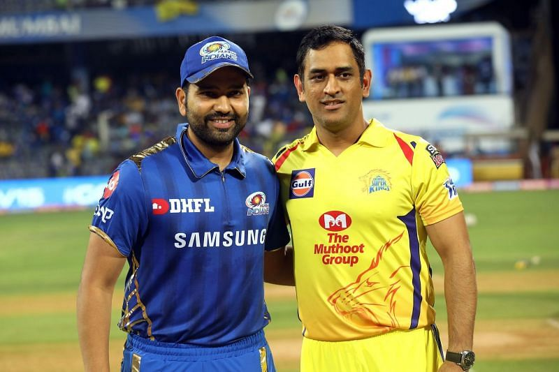 Two master tacticians - Rohit Sharma and MS Dhoni (Picture courtesy: IPLT20/BCCI)