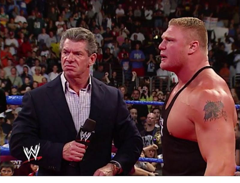 Vince McMahon and Brock Lesnar
