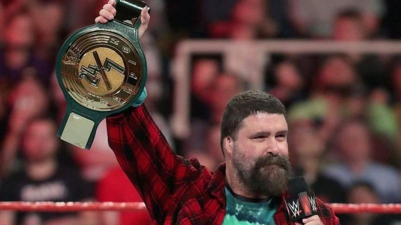 Mick Foley unveiled the Championship on Raw