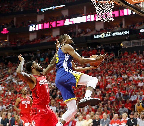 Golden State Warriors v Houston Rockets - Game Three
