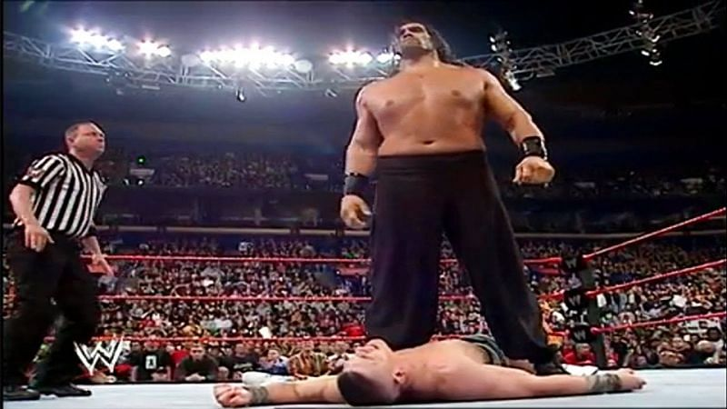 The Great Khali just pummelled The