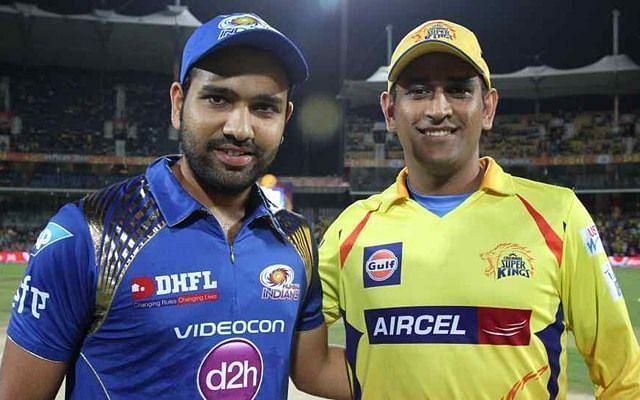 Rohit and Dhoni ( Image Courtesy: BCCI/IPLT20.com)