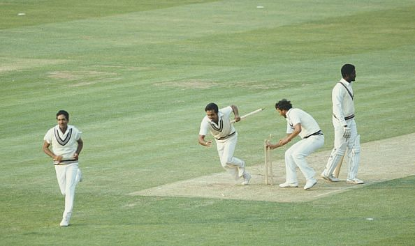 Winning moment. India clinches the World Cup 1983 stunning twice reigning champions West Indies.
