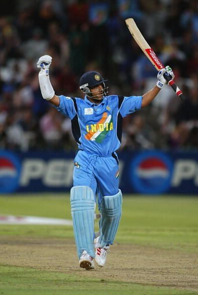 Sourav Ganguly during the 2003 ICC Cricket World Cup
