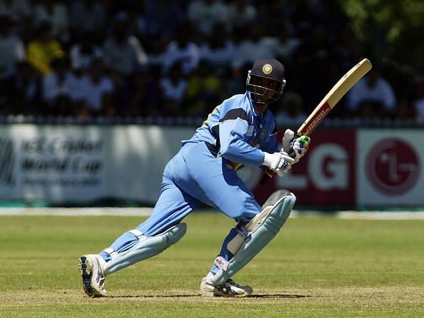 Sourav Ganguly of India on his way to a century