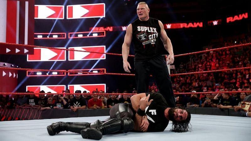 Seth Rollins and former Champion Brock Lesnar still have some unfinished business