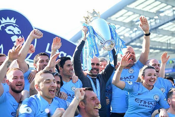 Manchester City successfully defended the Premier League title